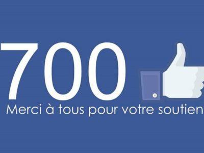 700 fans Facebook