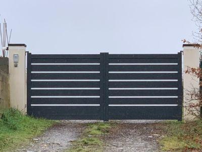 Nouveau portail en aluminium technal